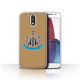 Newcastle United FC Case/Cover for Motorola Moto G4 Plus 2016/Colour/Gold Design/NUFC Football Crest Mobile phones