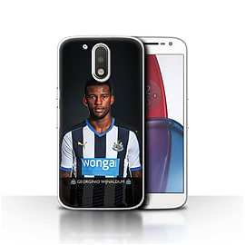 Official NUFC Case/Cover for Motorola Moto G4 Plus 2016/Wijnaldum Design/NUFC Football Player 15/16 Mobile phones