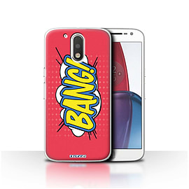 STUFF4 Case/Cover for Motorola Moto G4 Plus 2016 / Bang! Design / Comics/Cartoon Words Collection Mobile phones