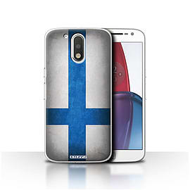 STUFF4 Case/Cover for Motorola Moto G4 Plus 2016 / Finland/Finnish Design / Flags Collection Mobile phones
