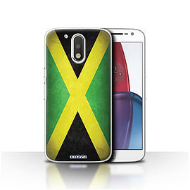 STUFF4 Case/Cover for Motorola Moto G4 Plus 2016 / Jamaica/Jamaican Design / Flags Collection Mobile phones