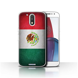 STUFF4 Case/Cover for Motorola Moto G4 Plus 2016 / Mexico/Mexican Design / Flags Collection Mobile phones
