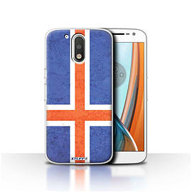 STUFF4 Case/Cover for Motorola Moto G4 2016 / Iceland/Icelandic Design / Flags Collection Mobile phones