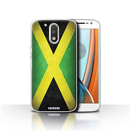 STUFF4 Case/Cover for Motorola Moto G4 2016 / Jamaica/Jamaican Design / Flags Collection Mobile phones