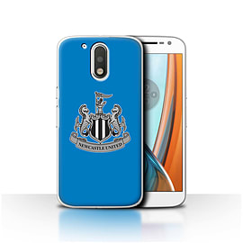 Newcastle United FC Case/Cover for Motorola Moto G4 2016/Mono/Blue Design/NUFC Football Crest Mobile phones