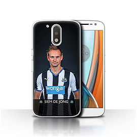 Newcastle United FC Case/Cover for Motorola Moto G4 2016/De Jong Design/NUFC Football Player 15/16 Mobile phones