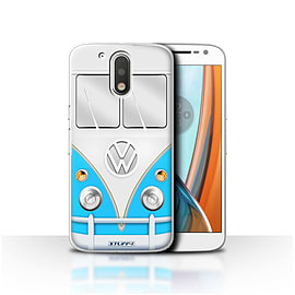 STUFF4 Case/Cover for Motorola Moto G4 2016 / Blue Design / VW Camper Van Collection Mobile phones
