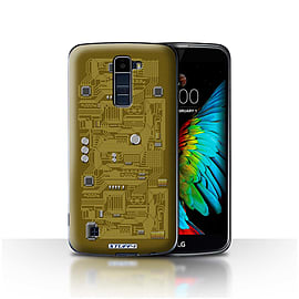 STUFF4 Case/Cover for LG K10 /K420/K430 / Yellow Design / Circuit Board Collection Mobile phones