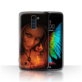 Official Elena Dudina Case/Cover for LG K10 /K420/K430 / Flaming Heart Design / Love Art Collection Mobile phones