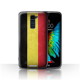 STUFF4 Case/Cover for LG K10 /K420/K430 / Belgium Design / Flags Collection Mobile phones