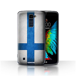 STUFF4 Case/Cover for LG K10 /K420/K430 / Finland/Finnish Design / Flags Collection Mobile phones