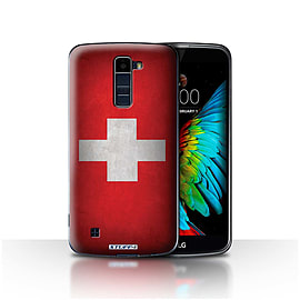 STUFF4 Case/Cover for LG K10 /K420/K430 / Switzerland/Swiss Design / Flags Collection Mobile phones