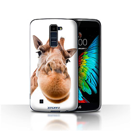 STUFF4 Case/Cover for LG K10 /K420/K430 / Closeup Giraffe Design / Funny Animals Collection Mobile phones