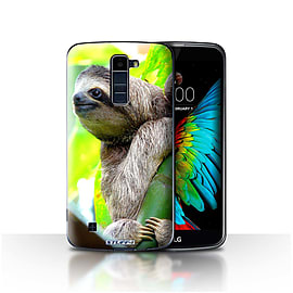 STUFF4 Case/Cover for LG K8/K350N/Phoenix 2 / Sloth Design / Wildlife Animals Collection Mobile phones