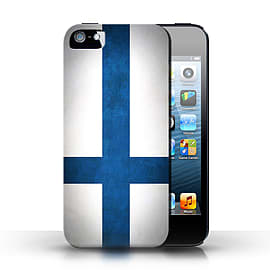 STUFF4 Case/Cover for Apple iPhone SE / Finland/Finnish Design / Flags Collection Mobile phones