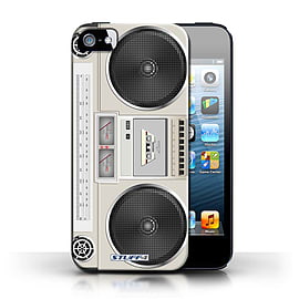 STUFF4 Case/Cover for Apple iPhone SE / Boombox Design / Retro Tech Collection Mobile phones