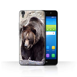 STUFF4 Case/Cover for Huawei Y6 / Bear Design / Wildlife Animals Collection Mobile phones