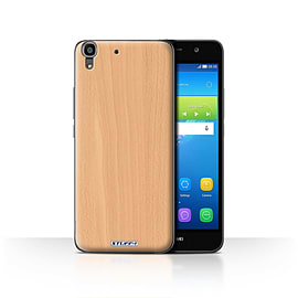 STUFF4 Case/Cover for Huawei Y6 / Beech Design / Wood Grain Effect/Pattern Collection Mobile phones