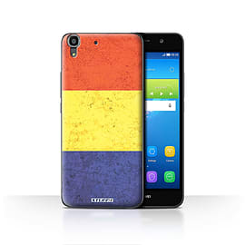 STUFF4 Case/Cover for Huawei Y6 / Romania/Romanian Design / Flags Collection Mobile phones