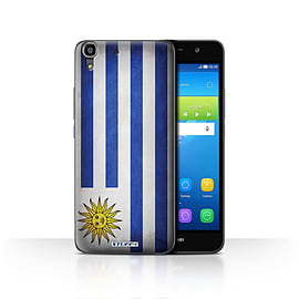 STUFF4 Case/Cover for Huawei Y6 / Uruguay/Uruguayan Design / Flags Collection Mobile phones