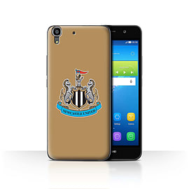 Official Newcastle United FC Case/Cover for Huawei Y6/Colour/Gold Design/NUFC Football Crest Mobile phones