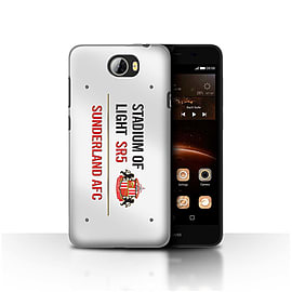 Official Sunderland AFC Case/Cover for Huawei Y5II/Y5 2/White/Red Design/SAFC Stadium of Light Sign Mobile phones