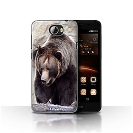 STUFF4 Case/Cover for Huawei Y5II/Y5 2 / Bear Design / Wildlife Animals Collection Mobile phones