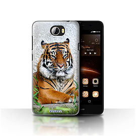 STUFF4 Case/Cover for Huawei Y5II/Y5 2 / Tiger Design / Wildlife Animals Collection Mobile phones