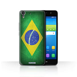 STUFF4 Case/Cover for Huawei Y6 / Brazil/Brazilian Design / Flags Collection Mobile phones