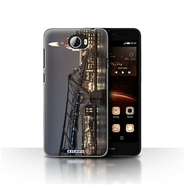 STUFF4 Case/Cover for Huawei Y5II/Y5 2 / London's Burning Design / Imagine It Collection Mobile phones