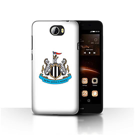 Official Newcastle United FC Case/Cover for Huawei Y5II/Y5 2/Colour/White Design/NUFC Football Crest Mobile phones