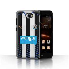Newcastle United FC Case/Cover for Huawei Y5II/Y5 2/Footballer Design/NUFC Home Shirt/Kit 15/16 Mobile phones