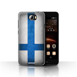 STUFF4 Case/Cover for Huawei Y5II/Y5 2 / Finland/Finnish Design / Flags Collection Mobile phones