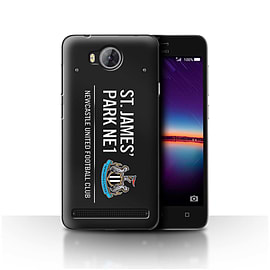 Official Newcastle United FC Case/Cover for Huawei Y3II/Y3 2/Black/White Design/St James Park Sign Mobile phones