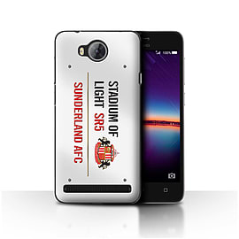 Official Sunderland AFC Case/Cover for Huawei Y3II/Y3 2/White/Red Design/SAFC Stadium of Light Sign Mobile phones