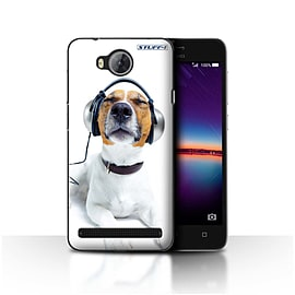 STUFF4 Case/Cover for Huawei Y3II/Y3 2 / Chillin Headphone Dog Design / Funny Animals Collection Mobile phones