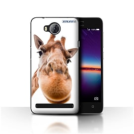 STUFF4 Case/Cover for Huawei Y3II/Y3 2 / Closeup Giraffe Design / Funny Animals Collection Mobile phones