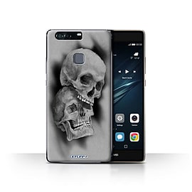 STUFF4 Case/Cover for Huawei P9 Plus / Mist/Fog Design / Skull Art Sketch Collection Mobile phones