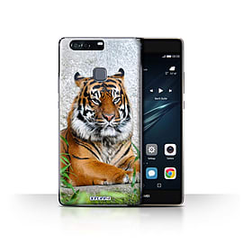 STUFF4 Case/Cover for Huawei P9 Plus / Tiger Design / Wildlife Animals Collection Mobile phones