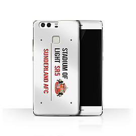 Official Sunderland AFC Case/Cover for Huawei P9/White/Red Design/SAFC Stadium of Light Sign Mobile phones
