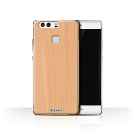 STUFF4 Case/Cover for Huawei P9 / Beech Design / Wood Grain Effect/Pattern Collection Mobile phones