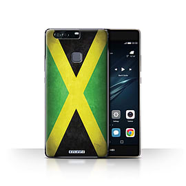 STUFF4 Case/Cover for Huawei P9 Plus / Jamaica/Jamaican Design / Flags Collection Mobile phones