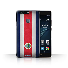 STUFF4 Case/Cover for Huawei P9 Plus / Costa Rica/Rican Design / Flags Collection Mobile phones