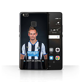 Official Newcastle United FC Case/Cover for Huawei P9 Lite/De Jong Design/NUFC Football Player 15/16 Mobile phones