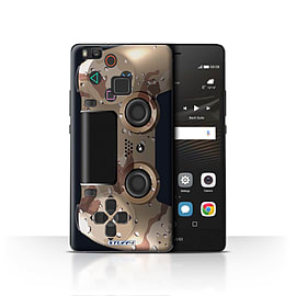STUFF4 Case/Cover for Huawei P9 Lite / Desert Camouflage Design / Playstation PS4 Collection Mobile phones