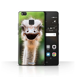 STUFF4 Case/Cover for Huawei P9 Lite / Ostrich/Emu Design / Wildlife Animals Collection Mobile phones
