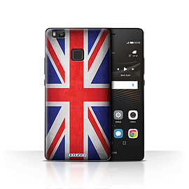 STUFF4 Case/Cover for Huawei P9 Lite / Great Britain/British Design / Flags Collection Mobile phones