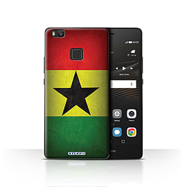 STUFF4 Case/Cover for Huawei P9 Lite / Ghana/Ghanaian Design / Flags Collection Mobile phones