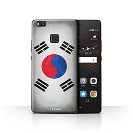 STUFF4 Case/Cover for Huawei P9 Lite / Korea/Korean Design / Flags Collection Mobile phones