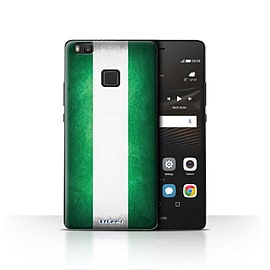 STUFF4 Case/Cover for Huawei P9 Lite / Nigeria/Nigerian Design / Flags Collection Mobile phones